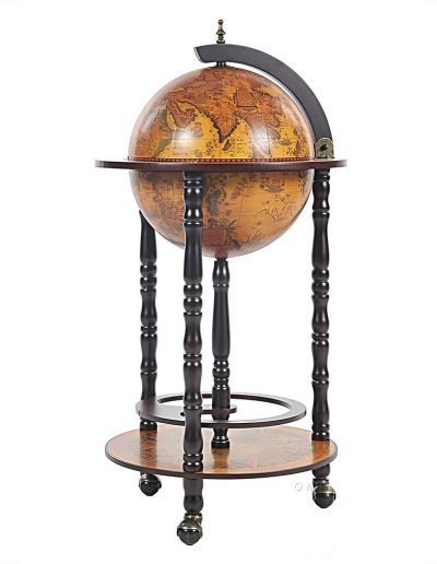 Product photo of the Old World bar globe on wheels - closed