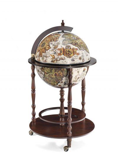 Product photo of the Vanesio ivory globe bar - closed