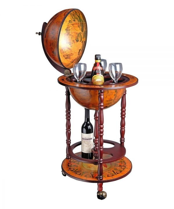 Product photo of the Capri floor standing nautical globe bar cabinet