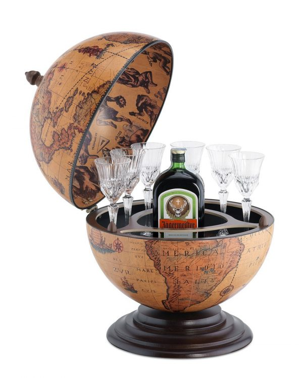 It's a Small World globe bar product image - open, classic