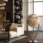 Studio photo of the Versus extra large modern world globe with modern map.