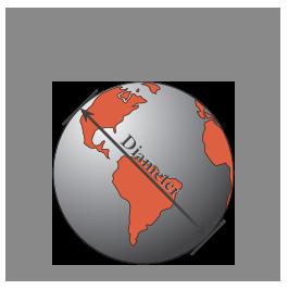 Graphic of medium diameter globe