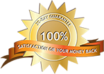 Graphic of Satisfaction Guaranteed badge