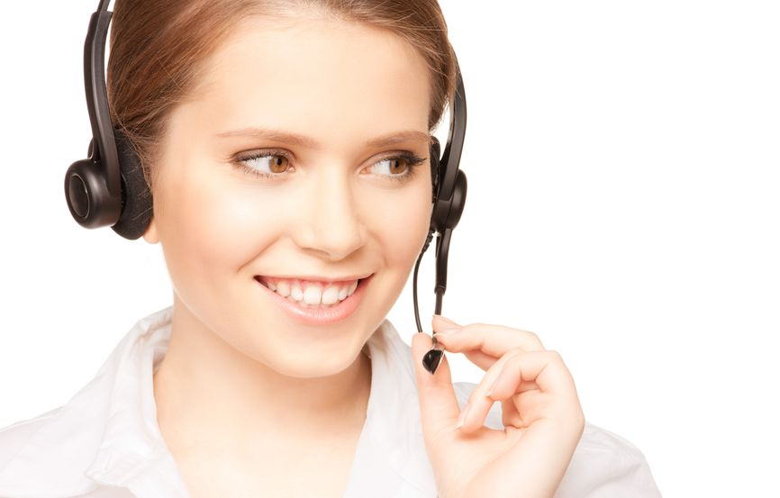 Photo of telephone operator for Contact Us page
