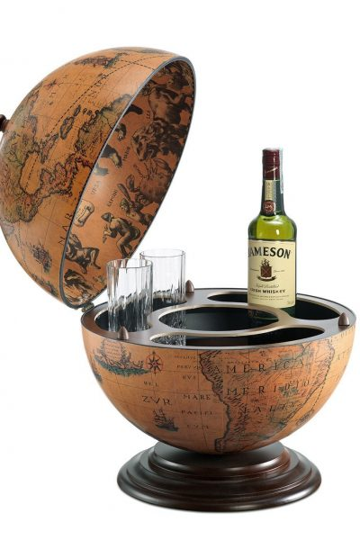Product photo of the fine vintage desk globe bar desk-globe-bar-Nettuno - classic, open, product photo