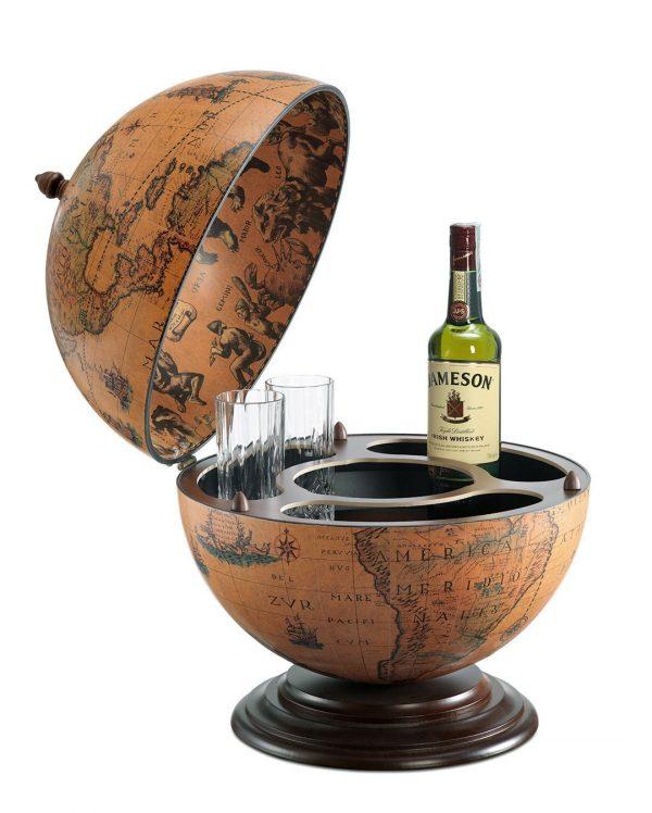Product photo of the fine vintage desk globe bar desk-globe-bar-Nettuno - classic, open, product photo