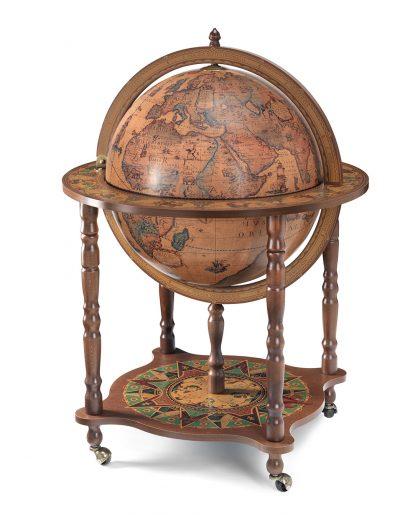 Classic color Full Meridian Globe Bar Cabinet - large photo - c;losed