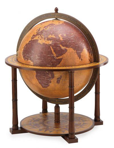 Gea Virgo extra large world globe bar - large photo, closed