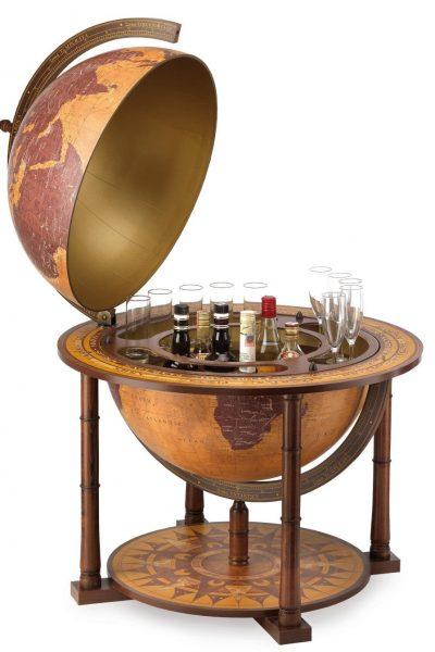 Gea Virgo extra large world globe bar - large photo, open
