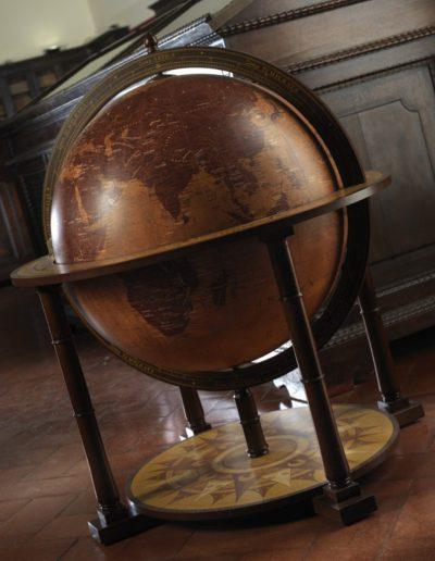 Studio photo of the Gea Aries Extra Large Floor Standing Globe