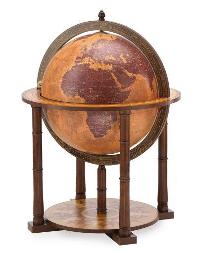 Italian Gea Taurus large world globe bar - large photo, closed