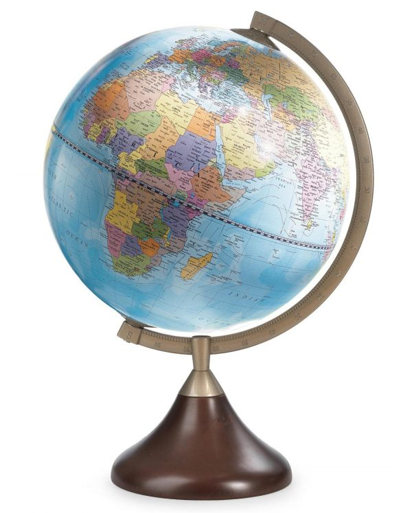 Product photo of light blue colored Coronelli current table globe