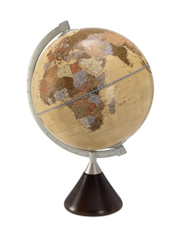 Product photo of apricot colored Coronelli current table globe