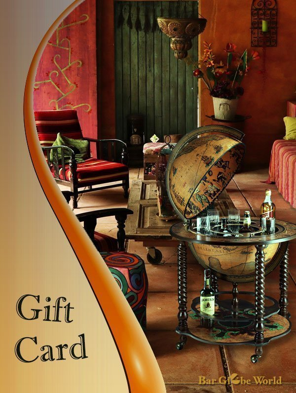 Image of a gift card from Bar Globe World