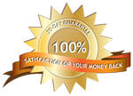 Satisfaction Guarantee badge for About Us page