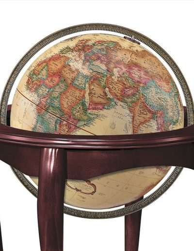 Product photo of The Queen Anne Globe - map sphere close-up