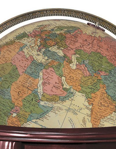 Product photo of The Queen Anne Illuminated Globe - map sphere close-up
