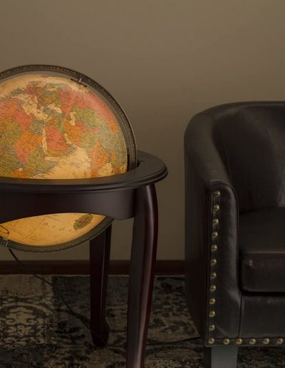 Studio photo of the The Queen Anne Illuminated Globe