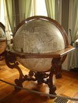 Photo of a real Coronelli globe for the Coronelli Current Political Table Globe product page