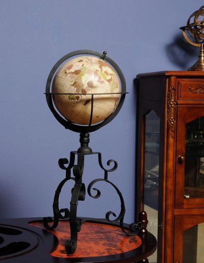 Studio photo of Old World Globe on Wrought Iron Stand 2