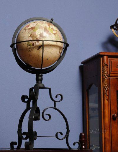 Studio photo of Old World Globe on Wrought Iron Stand 3