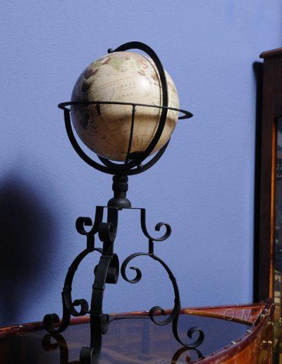 Studio photo of Old World Globe on Wrought Iron Stand