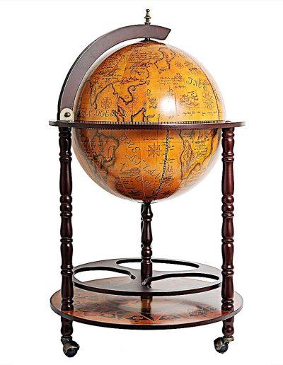 Product photo for the Davy Jones classic nautical globe bar - closed