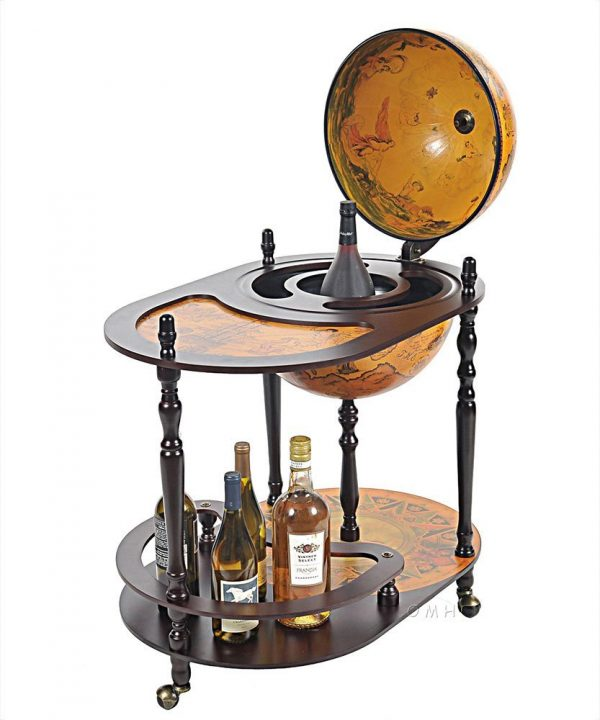 Product photo of the Old World globe trolley Catania - top view