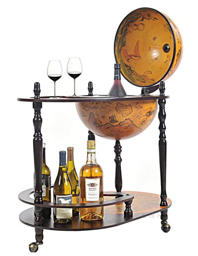 Product photo of the Old World globe trolley Catania - open2