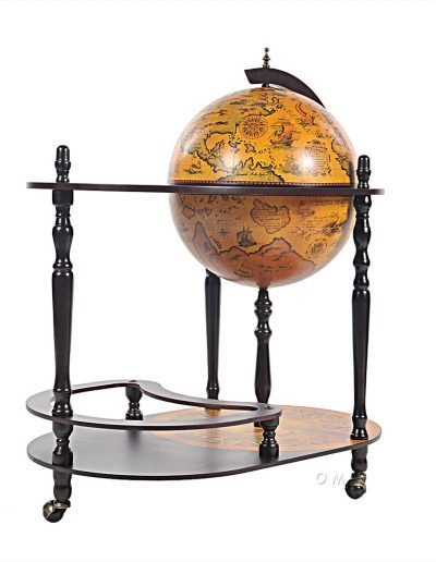 Product photo of the Old World globe trolley Catania - closed