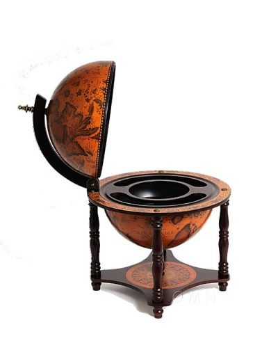 Product photo of the 4-Legged Old World table globe - side, top
