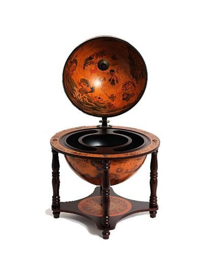 Product photo of the 4-Legged Old World table globe - front view, top