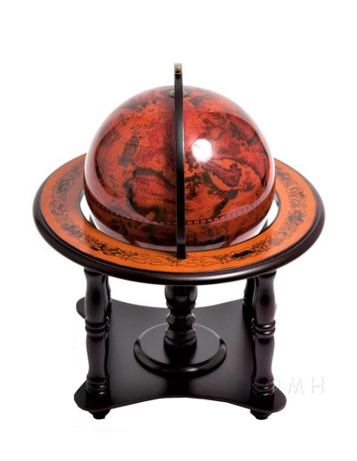 Product photo of the 4-legged nautical table globe - top view
