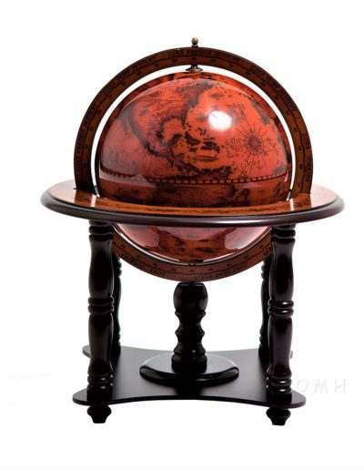 Product photo of the 4-legged nautical table globe - side view close