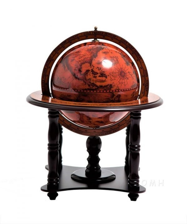 Product photo of the 4-legged nautical table globe - side view