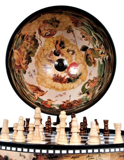 Image of nautical chess globes - side view