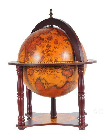 Product photos of the 4-legged globe chess set holder - closed