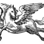 Image of Pegasus for the Pegasus Antique Globe Bar Replica product page
