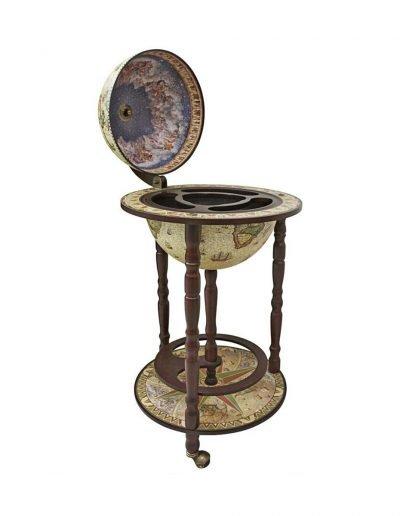 Product photo of the crema durata Sixteenth Century globe bar Italian-style replica - open, empty