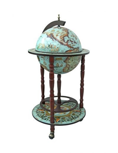 Product photo of the cielo blue Sixteenth Century globe bar Italian-style replica - closed