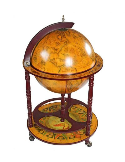 Product photo of the Sixteenth Century globe bar Italian-style replica - closed, side