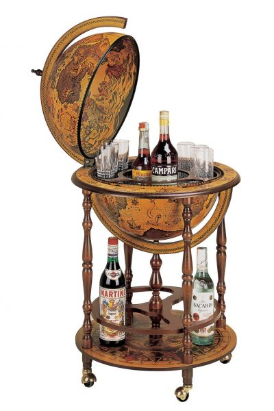 Product photo of the Regal Regolo Italian floor globe bar - open