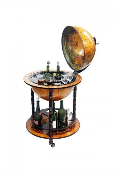Product photo of the Napoli nautical bar globe cabinet