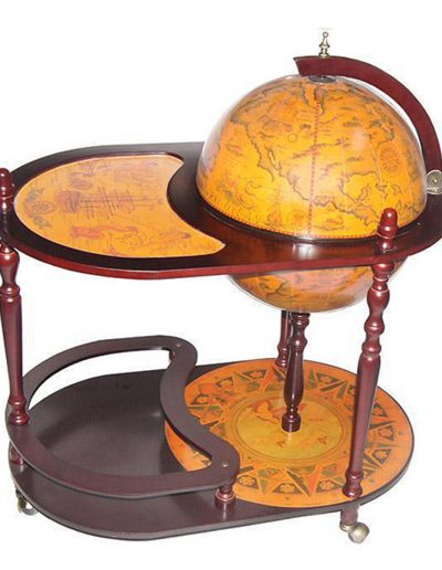 Product photo of the Old World globe trolley Catania - closed, top view
