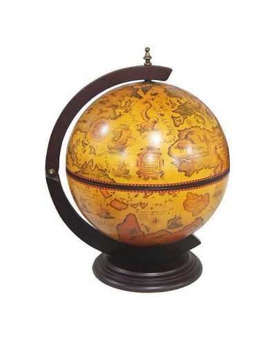 Product photo of the Salerno old world table globe bar - closed