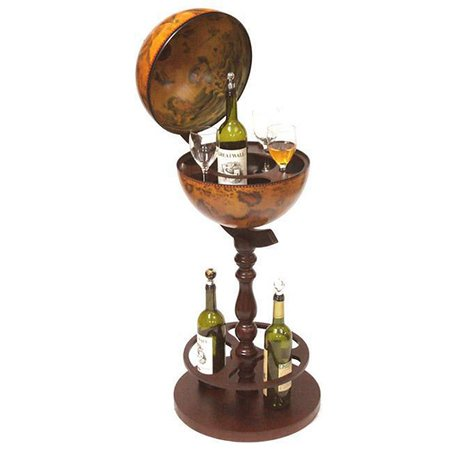 Product photo of the Roma old world globe bar - open