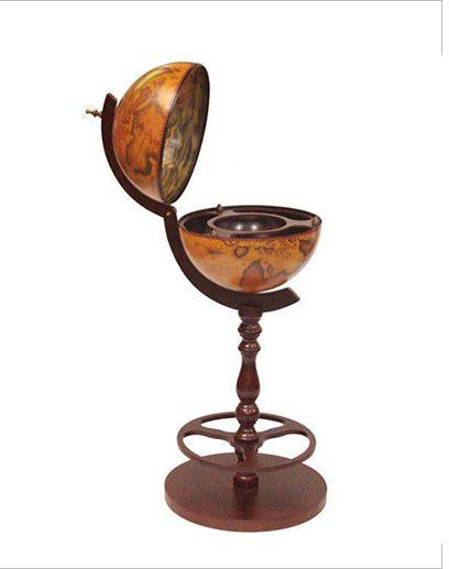 Product photo of the Roma old world globe bar - side view