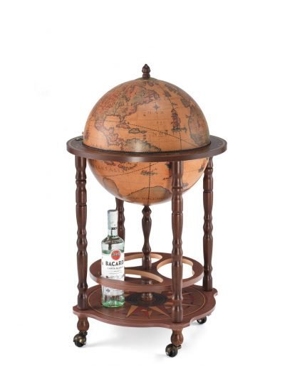 Product photo of the classic color floor globe bar Enea - closed