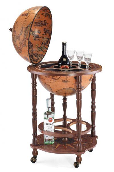 Product photo of the classic color Italian bar globe Enea - open