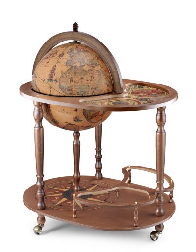 Product photo of the Giasone bar globe cart serving trolley - closed